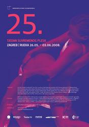 Plakat 25. tjedna suvremenog plesa