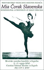 Plakat Međunarodnog baletnog natjecanja Mia Čorak Slavenska 2010.