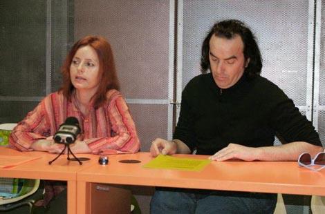 Senka Baruška i ŽAk Valenta na konferenciji za novinare na kojoj su redstavili projekt