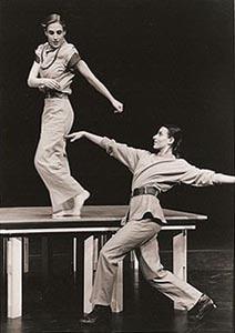 Tamara Kršek i Ilijana Pirel; Danstheater Arena, Amsterdam, i Mala Scena, Zagreb: Duet Zagreb - Ples u razredu, kor. Kim van der Boon, 1998.