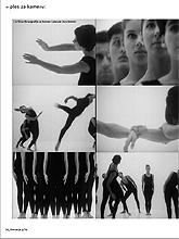 Kretanja, časopis za plesnu umjetnost, br. 9-10/2008. god., gl. ur. Iva Nerina Sibila, stanica 14, fotografije iz filma Koreografija za kameru i plesače Vere Maletić