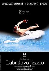 plakat za balet Labuđe jezero u Narodnom pozorištu Sarajevo