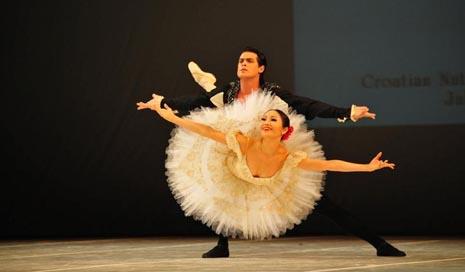 GEorge Stanciu i Yuka Ebihara, Zlatna medalja u kategoriji C Međunarodnog natjecanja baletnih plesača Mia Čorak Slavenska, foto: © Novković