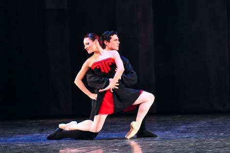 Mirna Sporiš, George Stanciu; HNK u Zagrebu: George Balanchine – Hans van Manen – Derek Deane, Večer tri baleta, Pet tanga, kor. Hans van Manen, foto: © Novković