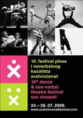 Plakat 10. festivala pčesa i neverbalnog kazališta Svetvinčenat 2009.