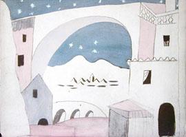 Trorogi šešir, scenografska skica Pabla Picassa
